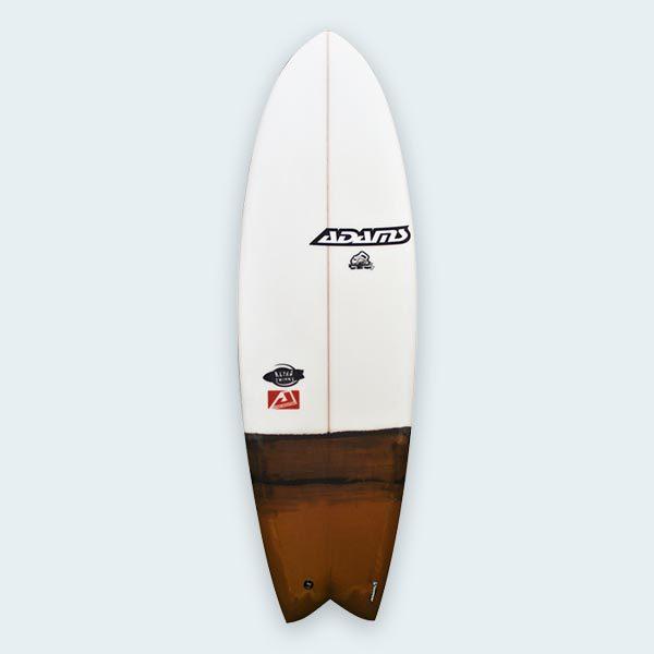 retro twin fish surfboard